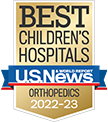 Ranked among Best Children's Hospitals for orthopedics, US News & World Report.