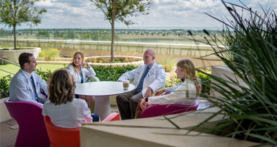 Staff and patients can enjoy beautiful outside spaces.