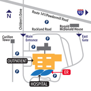 Nemours/Alfred I. duPont Hospital for Children Campus Map