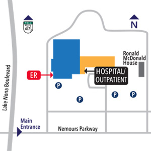 Nemours Children's Hospital Campus Map