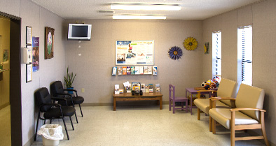 The inside of our pediatric specialty care office in Bonifay is warm and welcoming.