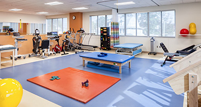 Our Bryn Mawr pediatric specialty care office features a full-size, therapy and sports medicine gym.
