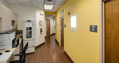 The inside of our pediatrician office is clean and bright.