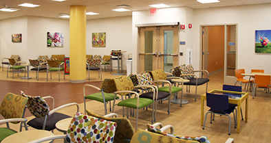 The waiting room in our Concordville office features separate areas for children who are sick and those here for well visits.