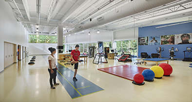 Our Deptford pediatric specialty care office features a full-size, therapy and rehabilitation gym.