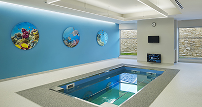 Our Deptford facility has an indoor therapeutic pool, the first in the area for pediatric use.