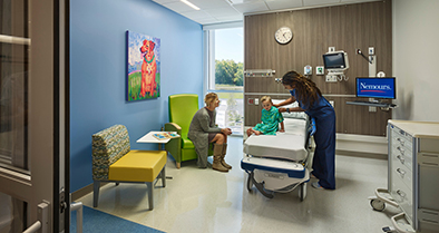 Our Deptford pre- and post-surgery rooms are brightly decorated to make your child feel welcome.