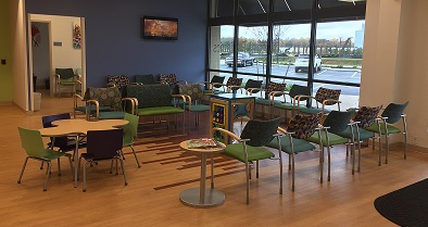 Our Dover pediatrician office features a large and welcoming waiting room.