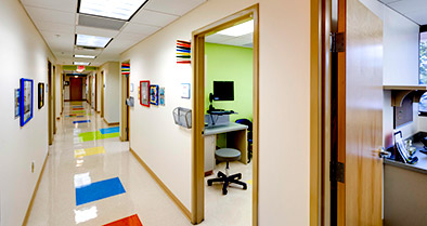 Our Downtown Orlando pediatrician's office is colorful and child-friendly.