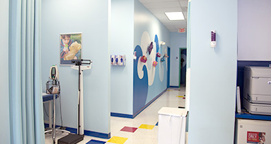 Our pediatric urgent care office has a variety of exam rooms.