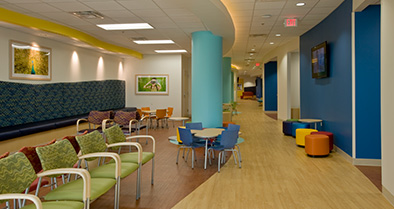 The inside of our Fleming Island pediatric specialty care office is colorful and welcoming to kids of all ages.