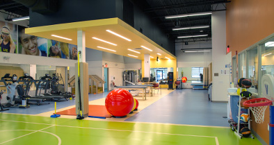 Our sports medicine gym is large and well-equipped.