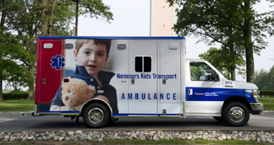 The Nemours Kids Transport ambulance, part of our pediatric emergency care services
