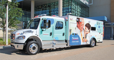 The Nemours Children's ambulance, part of our pediatric emergency care services.