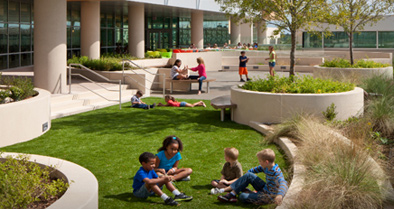 Families can enjoy beautiful outdoor spaces at our children's hospital.