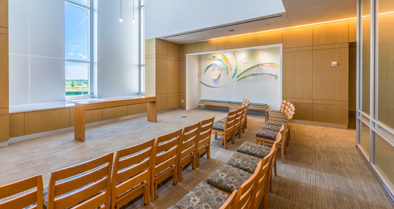 Our nondenominational chapel inside the hospital