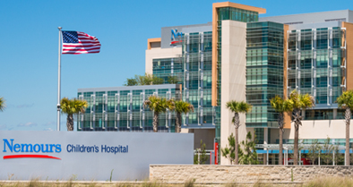 Exterior image of Nemours Children's Hospital in Orlando.