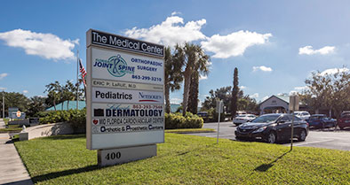 The Nemours Pediatrics sign as seen from the street.