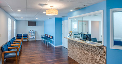 Filled with light and color, our Winter Haven pediatrician office is warm and welcoming.