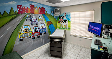 The walls of our Kissimmee pediatrician's office are decorated with fun artwork.