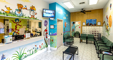 The interior of our Kissimmee pediatrician's office is bright and fun.