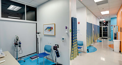 Diagnostic touchdown spaces allow us to evaluate patients with less wait time.