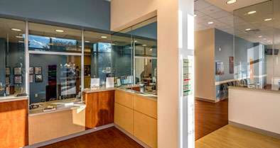 Our primary care pediatrics office has separate waiting areas for well visits and sick visits.