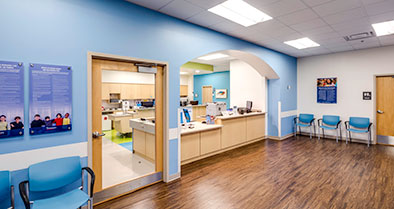You and your child can feel at ease in the welcoming waiting area of our pediatric urgent care office in Lake Nona.