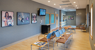 Our Lancaster pediatric specialty care office features an interior that's designed to be calm and inviting.