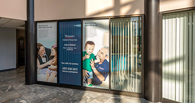 A view of our pediatric primary care office from the lobby entrance.