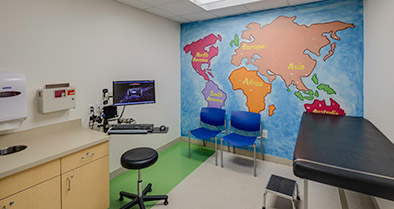 Our Maitland pediatrician's office features fun artwork on the walls in the exam rooms.