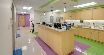 The interior of our Maitland pediatric primary care office is bright and colorful.