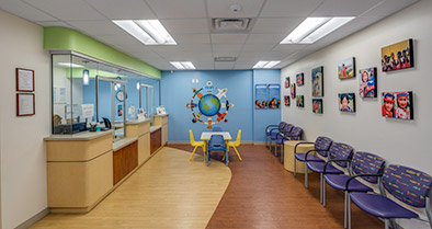 A photo of the welcome area in our Maitland primary care pediatrician's office.