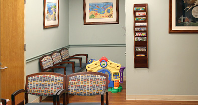 Our Media pediatric office space is fun and welcoming for kids.