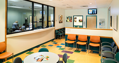 Our Middletown pediatrician office is colorful, bright and friendly.