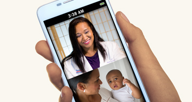 You can have an online doctor visit with a Nemours pediatrician from your mobile device.
