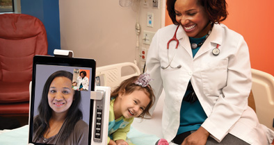 You can have a video chat visit with a Nemours pediatrician from your referring physician's office.