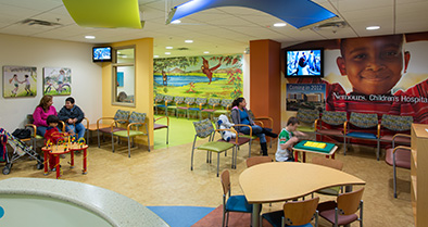 In our Orlando pediatric specialty care office, the interior spaces are colorful and relaxing.