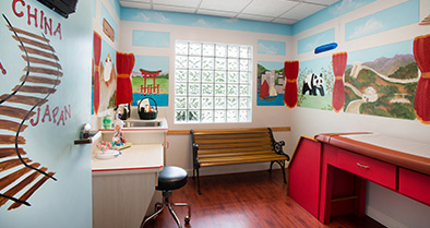 The exam rooms in our Ormond Beach-area pediatrician's office are bright and colorful.