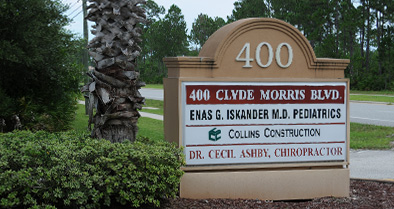Our Ormond Beach pediatrician is located at 400 Clyde Morris Boulevard in Suite A.