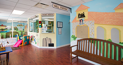 Our Ormond Beach-area pediatrician office includes fun play space.
