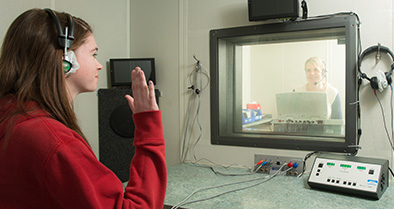 Our Pensacola pediatric specialty care location features an audiology (hearing) testing room.