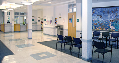 Light and color help welcome you and your child to our Tallahassee pediatric specialty care office.