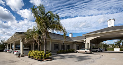 A street view of the building where the Vero Beach pediatric primary care office is located.
