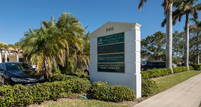 A street view of the Nemours Pediatrics office sign.