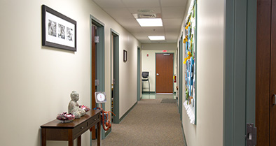 Our pediatric specialty care office has multiple exam rooms.