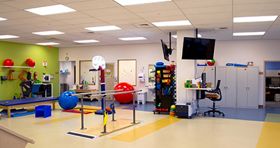 Our Voorhees pediatric specialty care office features a full-size, therapy and sports medicine gym.