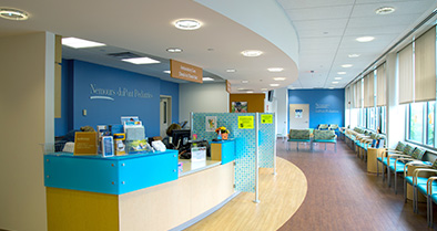 The inside of our Voorhees pediatric specialty care office is bright and welcoming.
