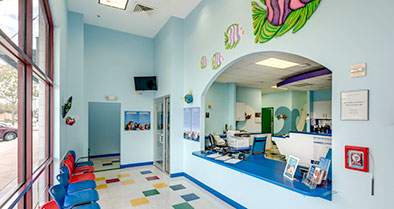 The inside of our Waterford Lakes office is colorful and fun.