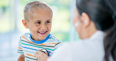 Young boy with brain tumor being treated at Nemours.